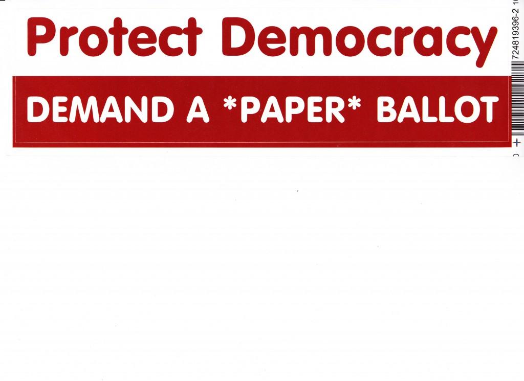 Protect Democracy Bumper Sticker 001